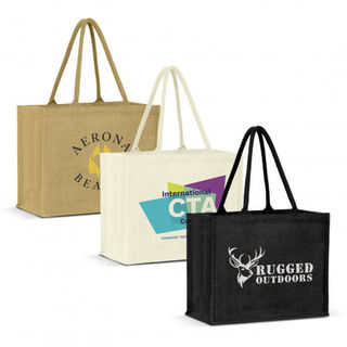 Torino Jute Tote Bag - Colour Match
