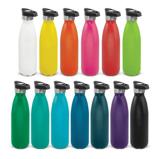 Mirage Powder Coated Vacuum Bottle - Push Button Lid